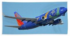Southwest Boeing 737-7h4 N727sw Nevada One Phoenix Sky Harbor October 14 2017 Beach Sheet