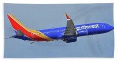 Southwest Boeing 737-8 Max N8708q Phoenix Sky Harbor October 10 2017 Beach Towel