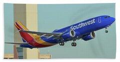 Southwest Boeing 737-8 Max N8709q Phoenix Sky Harbor October 2 2017 Beach Towel