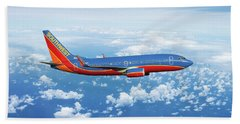 Southwest Boeing 737-700 Beach Towel