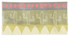 Southwest Cactus Decorative- Art By Linda Woods Beach Towel