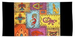 Beach Towel featuring the painting Southwest Sampler by Susie WEBER
