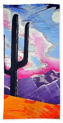 Beach Towel featuring the painting Southwest Skies 2 by J R Seymour