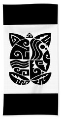 Beach Towel featuring the digital art Southwest Tribal Tortuga by Vagabond Folk Art - Virginia Vivier