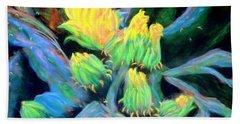 Beach Sheet featuring the pastel Southwesterly Cactus Impression Of.....sold by Antonia Citrino