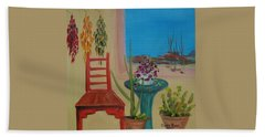 Beach Sheet featuring the painting Southwestern 6 by Judith Rhue