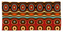 Southwestern Colors Pattern Beach Towel