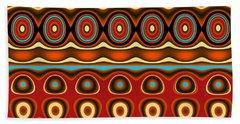 Southwestern Colors Pattern Beach Sheet by Jessica Wright
