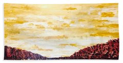 Southwestern Mountain Range Beach Towel