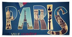Souvernirs De Paris Beach Towel
