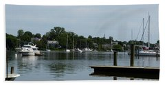 Beach Towel featuring the photograph Spa Creek From The Park  by Donald C Morgan