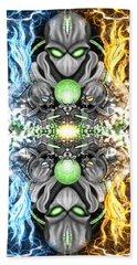 Space Alien Time Machine Fantasy Art Beach Towel
