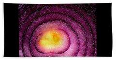 Space Allium Beach Towel by Danielle R T Haney
