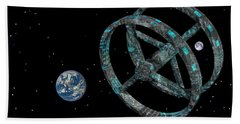 Beach Towel featuring the photograph Space Base by Mark Blauhoefer