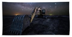 Beach Towel featuring the photograph Space Excavator  by Aaron J Groen