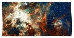 Space Fire Beach Towel
