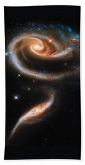 Beach Sheet featuring the digital art Space Image Galaxy Rose by Matthias Hauser