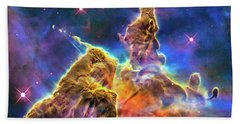 Space Image Mystic Mountain Carina Nebula Beach Towel