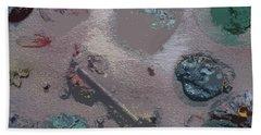 Space Junk Beach Towel by Robert Margetts