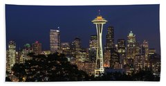 Beach Towel featuring the photograph Space Needle by David Chandler