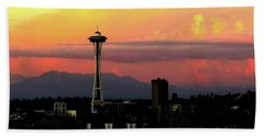 Space Needle Horizon Beach Sheet