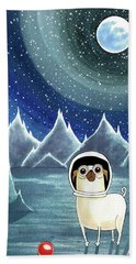 Space Pug  Beach Towel