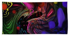 Space Rocks Beach Towel by Kevin Caudill
