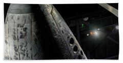 Space Shuttle Nose  Beach Sheet by David Collins