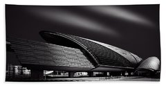 Dubai Metro Station Mono Beach Towel