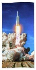 Spacex Falcon Heavy Rocket Launch Beach Towel