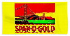 Span O Gold Golden Gate Bridge Beach Towel