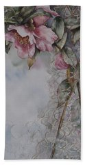 Spanish Camellias Beach Towel