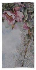 Spanish Camellias Beach Sheet