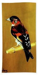 Spanish Gold Finch Beach Towel