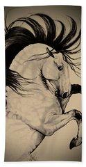 Spanish Horses Beach Sheet by Cheryl Poland