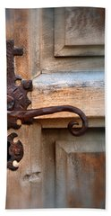 Spanish Mission Door Handle Beach Towel by Jill Battaglia