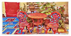 Spanish Village Art Center Beach Sheet by Karyn Robinson