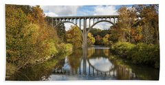 Spanning The Cuyahoga River Beach Towel