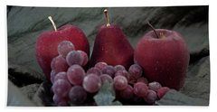 Beach Towel featuring the photograph Sparkeling Fruits by Sherry Hallemeier