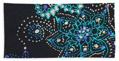 Midnite Sparkle Beach Towel by Carole Brecht
