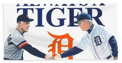 Sparky Anderson And Jim Leyland Beach Towel