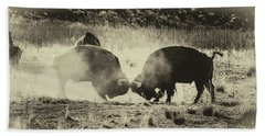 Sparring Partners - American Bison Beach Towel