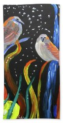 Sparrows Inspired By Chihuly Beach Towel