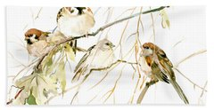 Sparrows Beach Towel by Suren Nersisyan