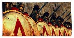 Spartan Army - Wall Of Spears Beach Towel