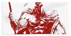 Spartan Warrior - Battleborn Beach Towel