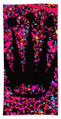Speck Of Time Pink Beach Towel