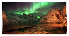 Spectacular Night In Lofoten 1 Beach Towel