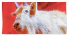 Spectral Mountain Goat Beach Towel