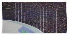 Spectrum Earth Spacescape Beach Towel